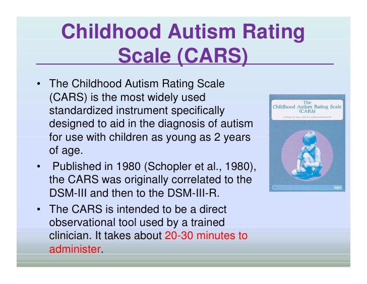 Cars autism rating scale