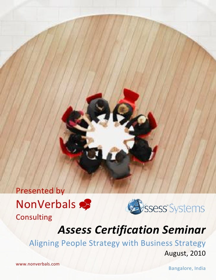 Assess Competency FrameWork Modelling Certification