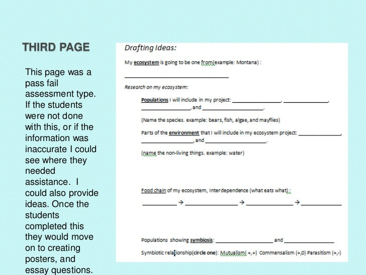 THIRD PAGEThis page was apass failassessment type.If the studentswere not donewith this, or if theinformation wasinaccurat...