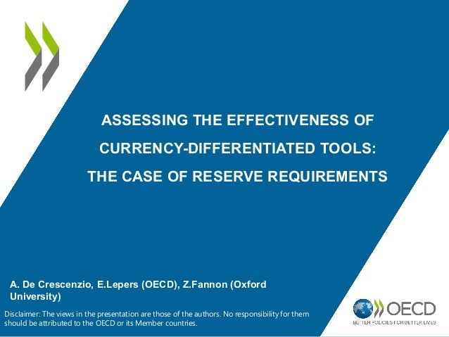 Assessing the Effectiveness of Currency-Differentiated Tools: The Case of Reserve Requirements