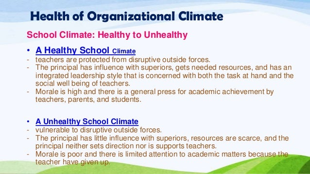 effects school culture and climate