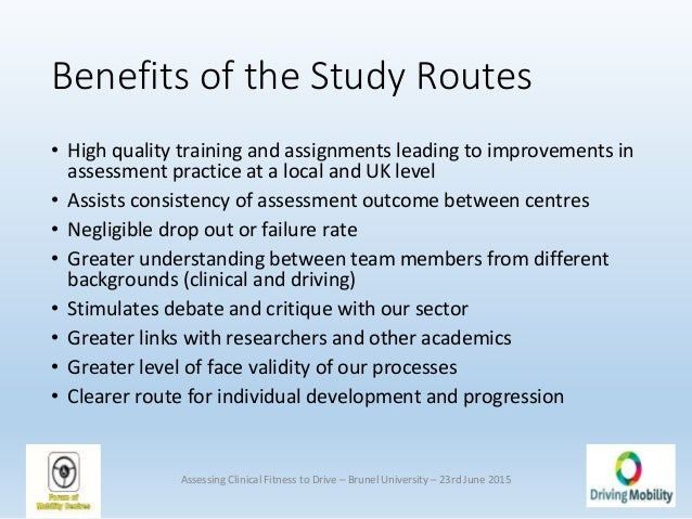 Assessing clinical fitness to-drive symposium, all slides