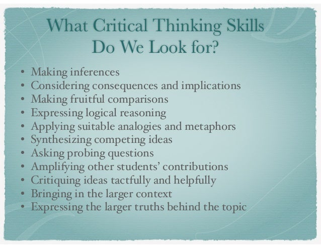 critical thinkng and language essay Language arts key critical thinking skills for great essay-writing key critical thinking skills for great essay-writing  you can use to boost your critical .