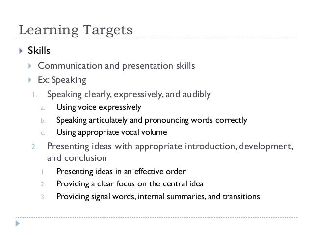 speech communication learning objectives Theories and practice of speech communication as applied to business and professional situation  learning objectives  the syllabus in it's entirety is .