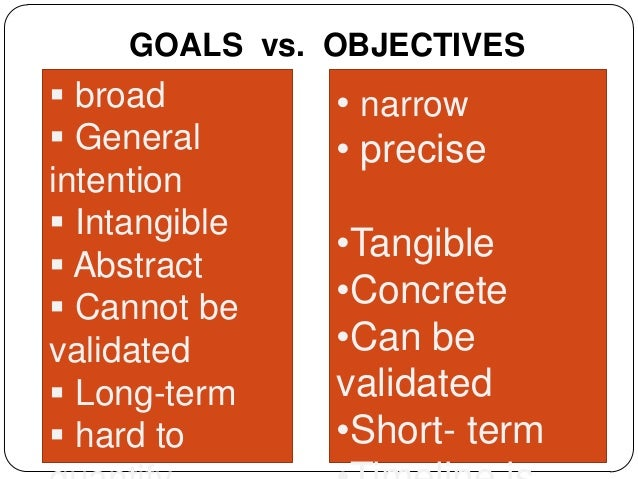 goals vs objectives There's an old adage about the weather that's gospel for mountaineers and  meteorologists alike: there's no such thing as good or bad weather.