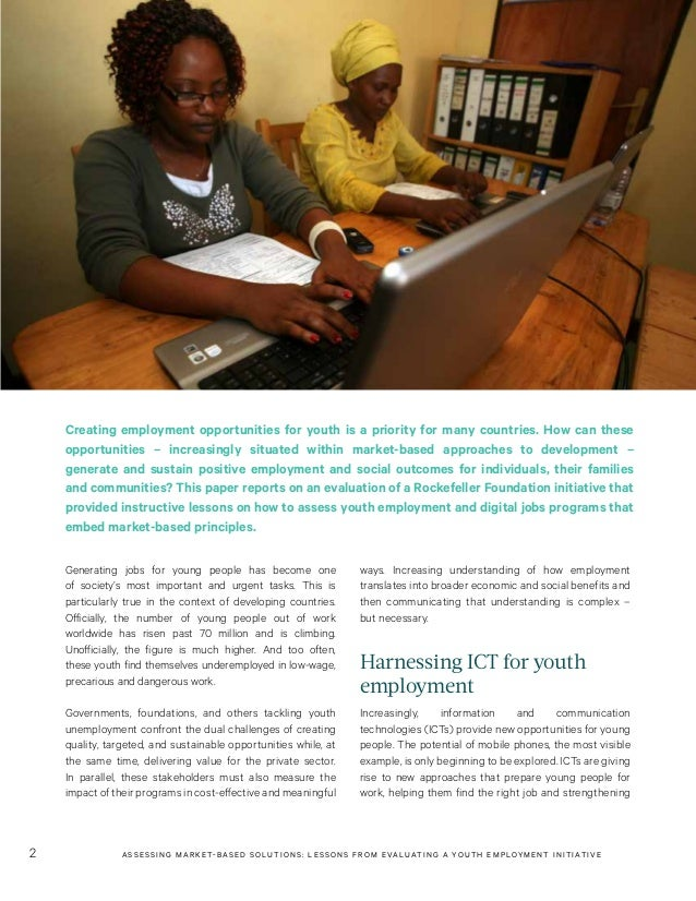 Assessing Market-Based Solutions: Lessons from Evaluating a Youth Employment Initiative Slide 2