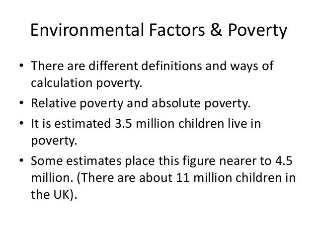 assessing the concept and causes of poverty Poverty: facts, causes and consequences joe tiao lecture, kansas state university hilary hoynes university of california, davis april 2012  •poverty is a family concept—all persons in the same family have the same poverty status poverty thresholds by family type, 2010.