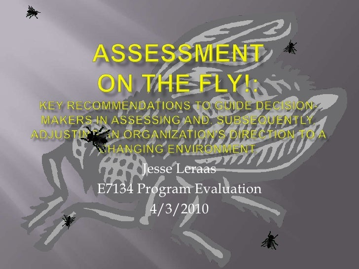 Jesse Leraas E7134 Program Evaluation         4/3/2010