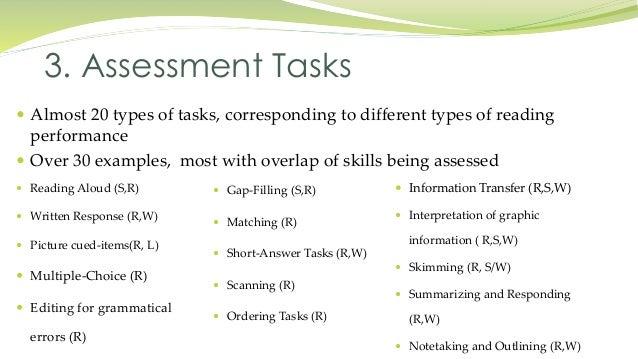 performance assessment tasks