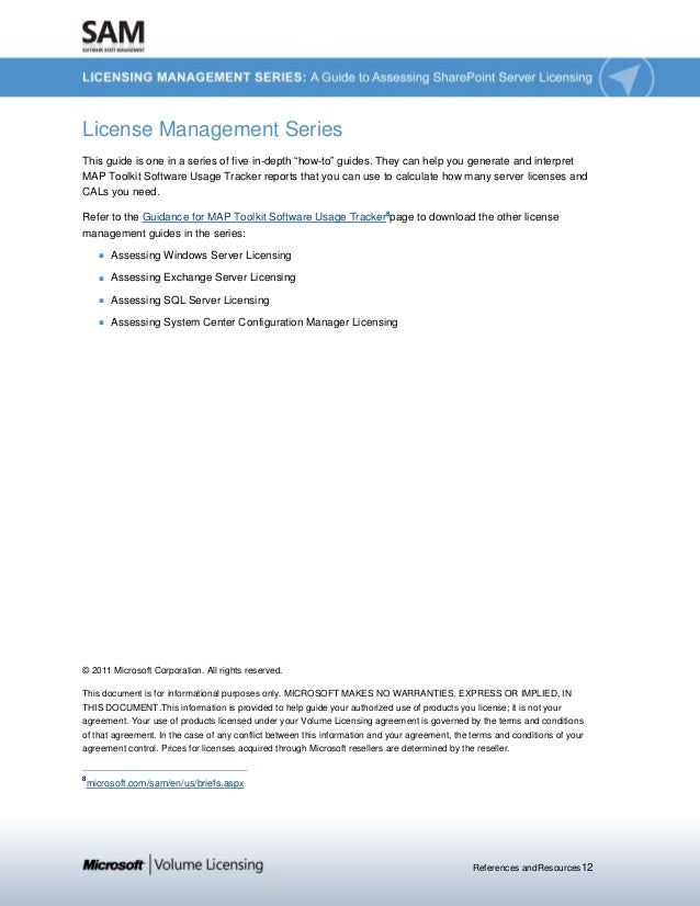 """References andResources12 License Management Series This guide is one in a series of five in-depth """"how-to"""" guides. They c..."""