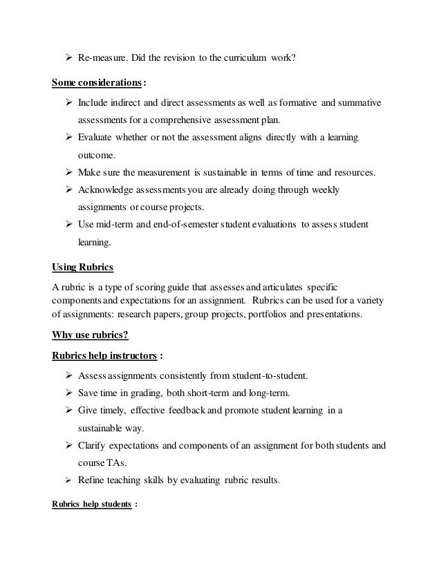 term paper evaluation rubric Tion spectrums an example of use in this manner is the 1975 paper international   between 1975 and 1994, the term rubric was used in the evaluation litera.
