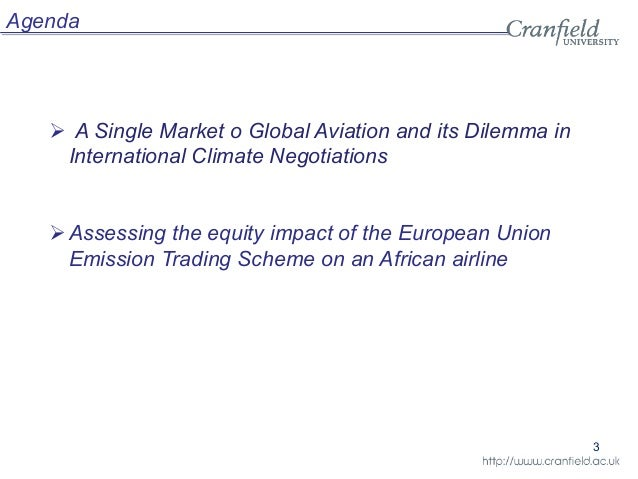 Effects of a Carbon Emissions Trading System on Aviation ...