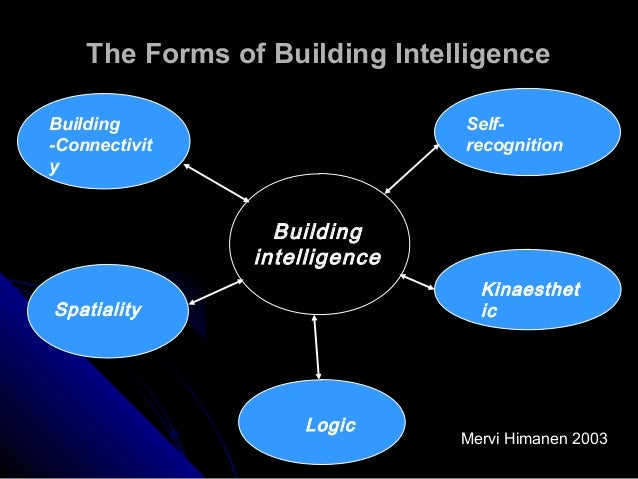 """intelligent buildings Over the last 20 years, there has been a lot of discussion and debate about the concept of an """"intelligent building"""" work has gone on in many forums to define and quantify what the term really means the end result of all of these efforts is that an intelligent building is not just one thing my definition of intelligent buildings is."""