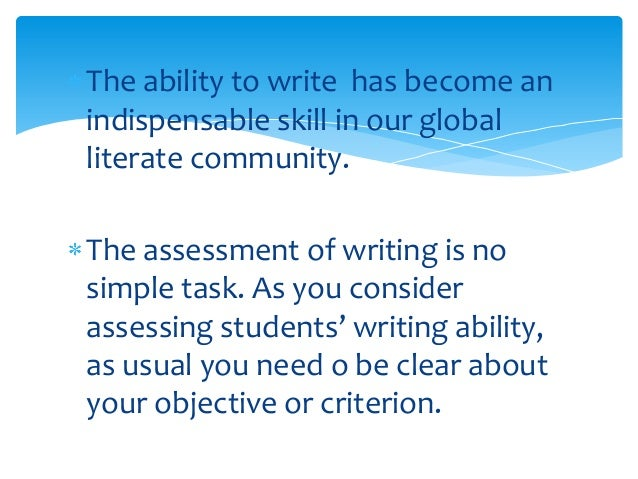 assessing writing ability