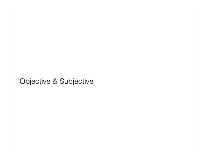 Objective & Subjective