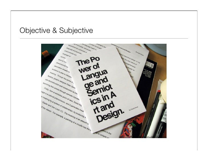 Objective & Subjective                              http://www.flickr.com/photos/art_star/530345114/