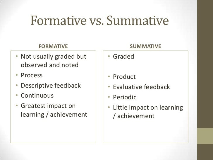 Formative Vs Summative Assessment Chart Ibovnathandedecker