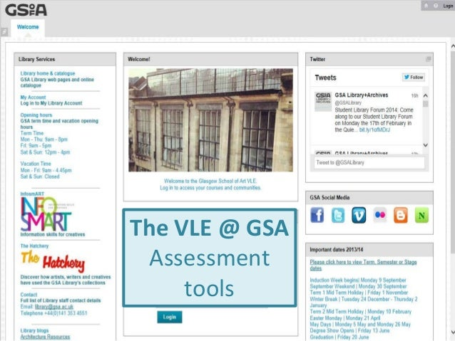 The VLE @ GSA Assessment tools
