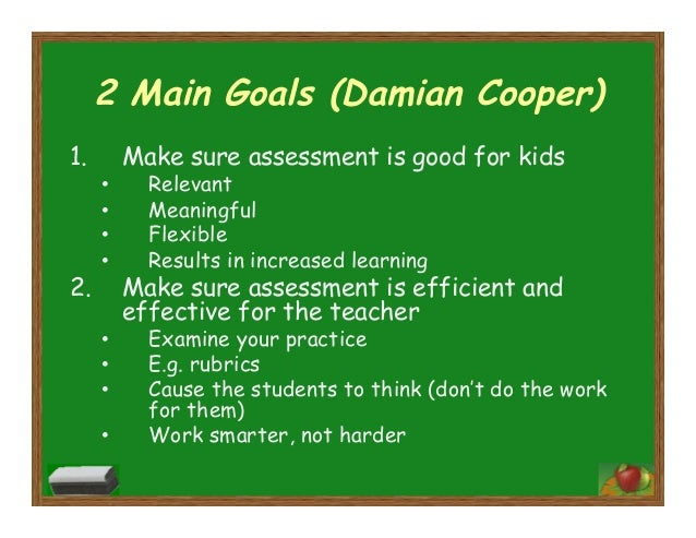 talk about assessment damian cooper pdf