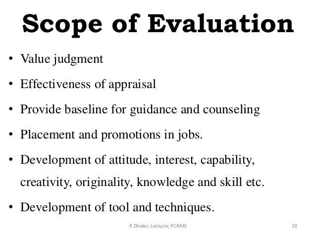 Scope Of Assessment