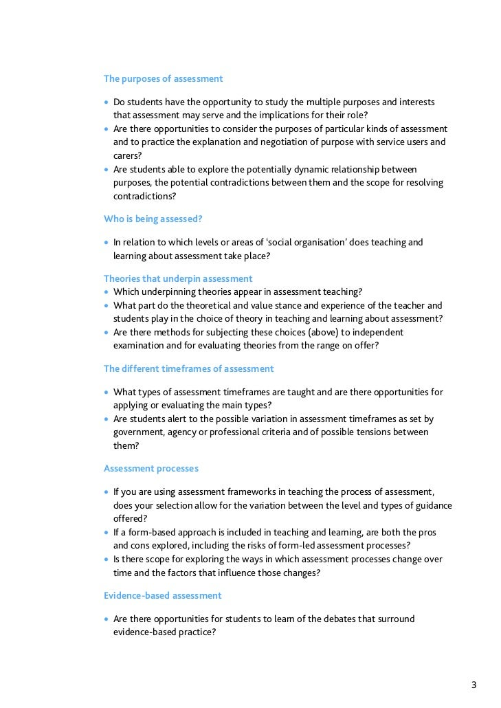 Assessment In Social Work A Guide For Learning And Teaching