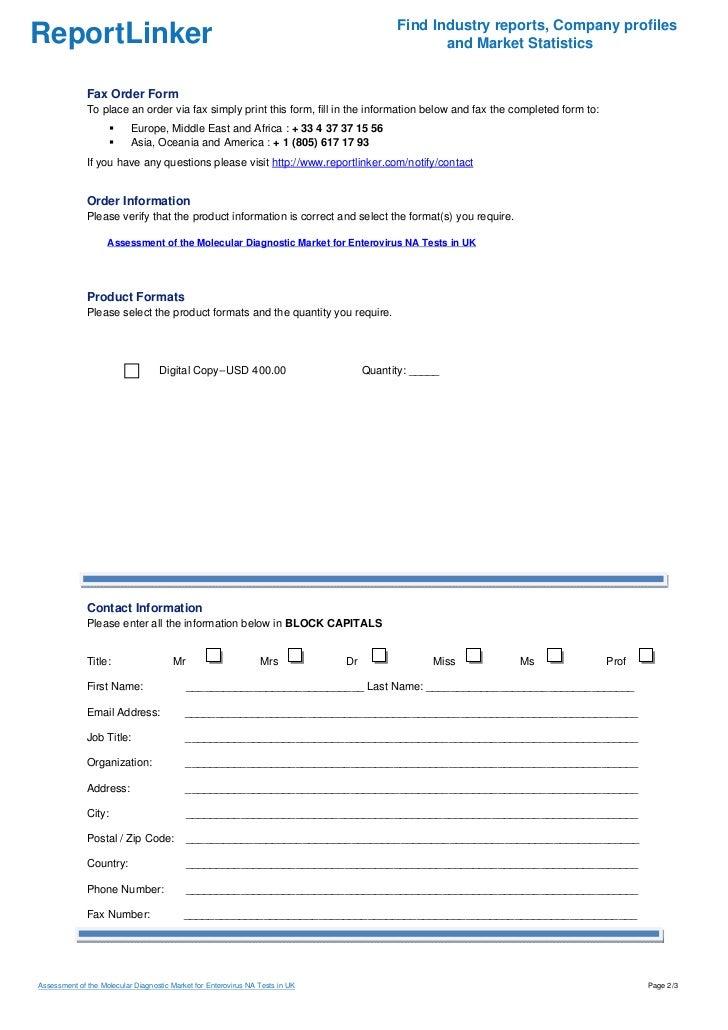 Assessment of the Molecular Diagnostic Market for Enterovirus NA Tests in UK Slide 2