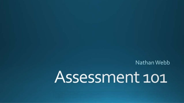 Webb Philosophy of Assessment