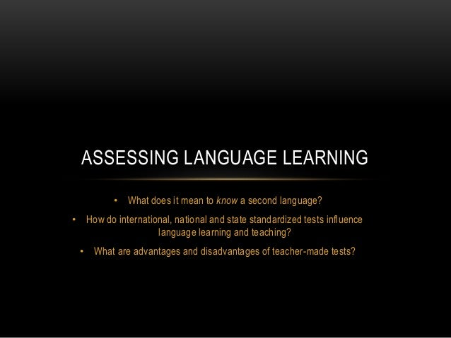 Assessing Language Learning