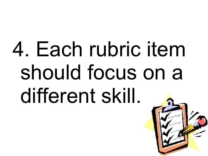 Assessment of Student Learning 2: Rubrics