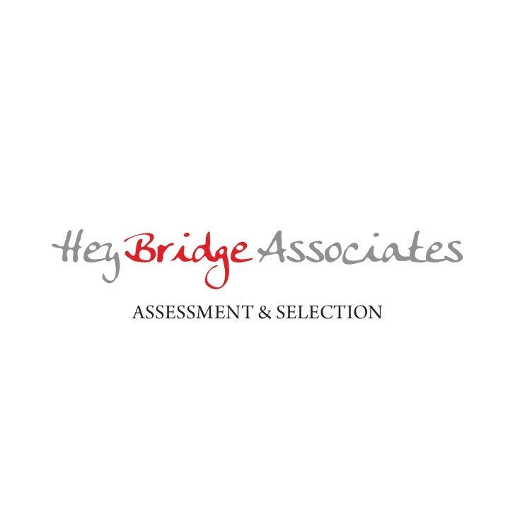 HeyBridge Associates   Assessment & selection