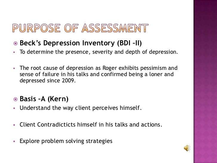 Beck depression inventory scoring
