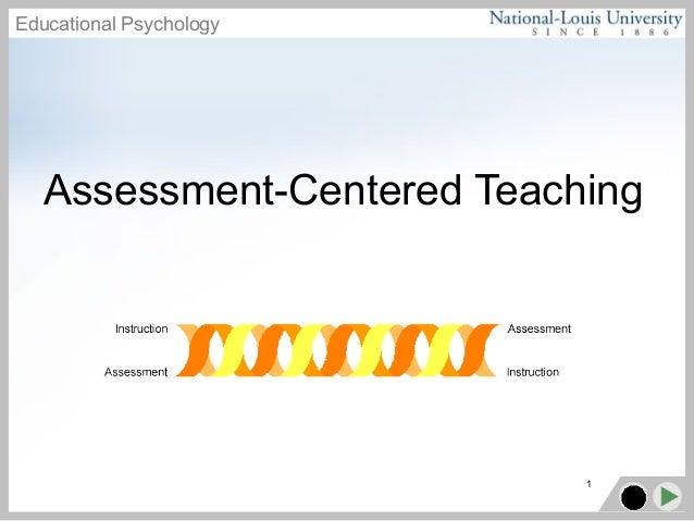 Educational Psychology 1 Assessment-Centered Teaching