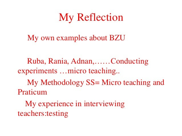 Reflection of micro teach