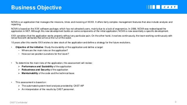 Application Assessment - Executive Summary Report