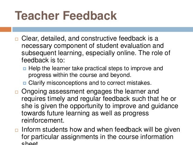 Seven ways to give better feedback to your students