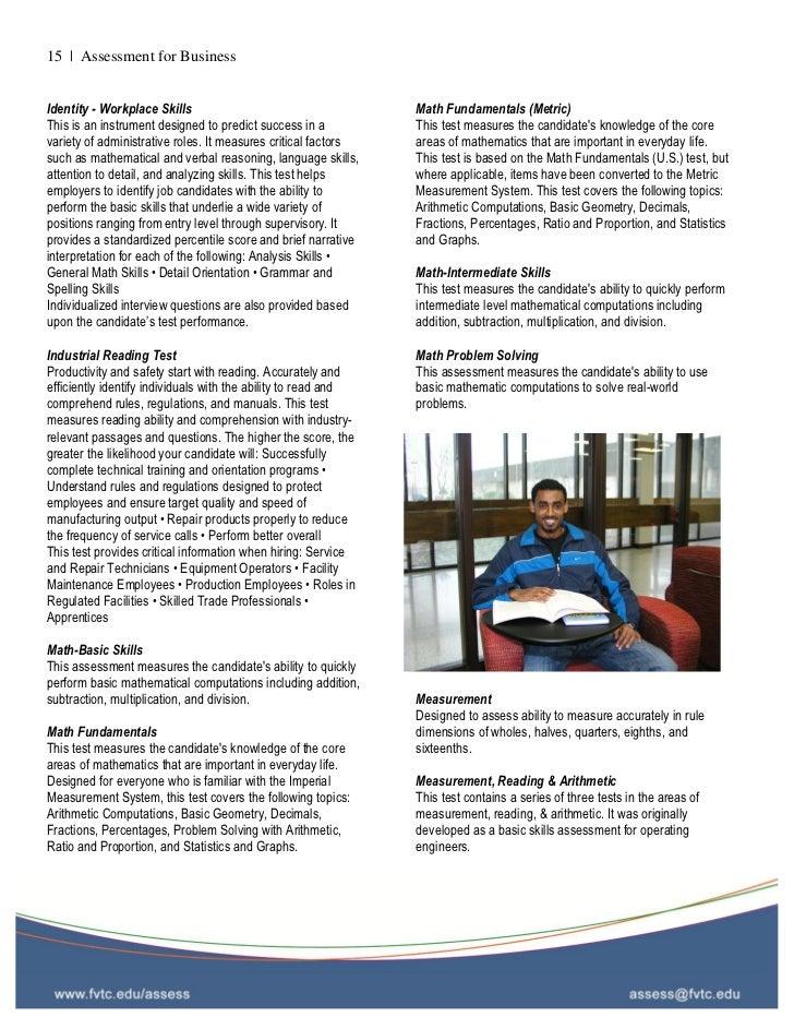 FVTC Employee Assessment Guide