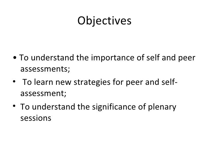 Self-assessment for Self-Improvement