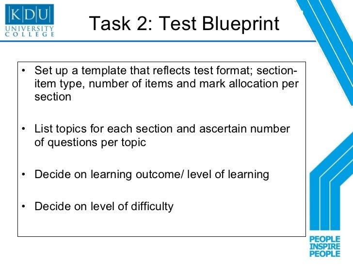 Bloom taxonomy assessment on smsa exam