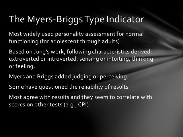 reflection upon the myersbriggs type indicator