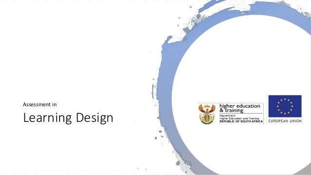 Learning Design Assessment in