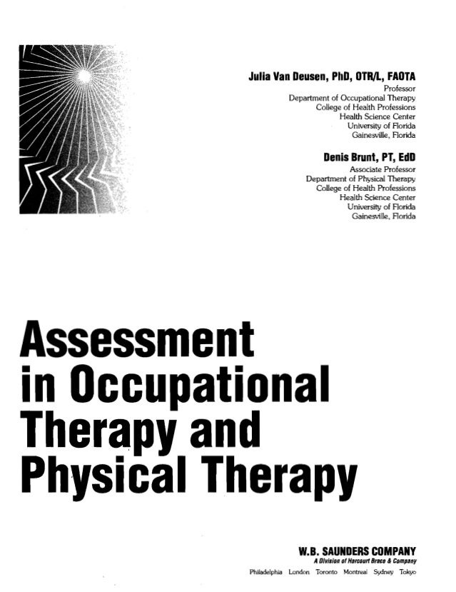 description of occupational therapy career essay