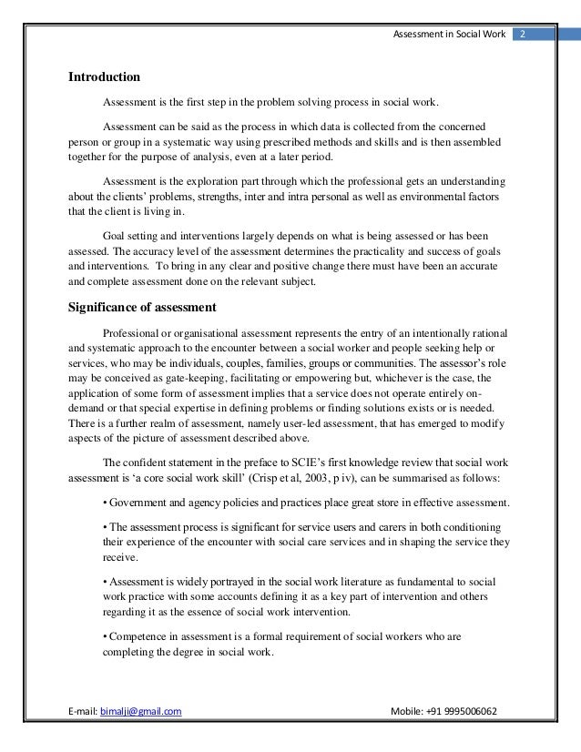 interview social worker essay Social worker interview in two pages a sample social worker interview considers concept definitions and the social role performed by social.