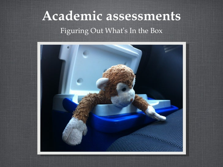 Academic assessments  Figuring Out What's In the Box