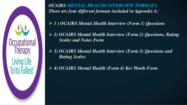 Assessment Interview And Rating Scale Mental Health