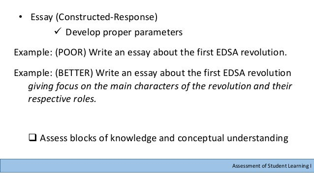 edsa 3 an assessment Exploring two pathways, it shows, firstly, that the extent to which the edsa revolt may be considered as a critical conjuncture depends significantly on the assessment of, and meanings attached to, the marcos years.