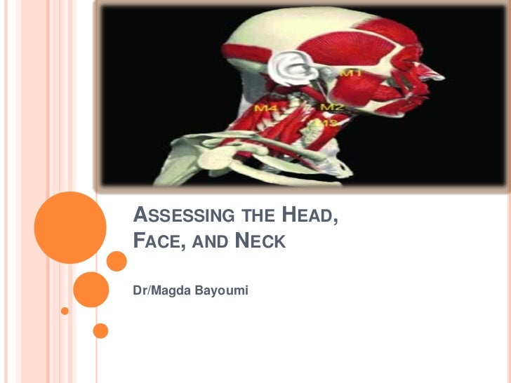 ASSESSING THE HEAD,FACE, AND NECKDr/Magda Bayoumi