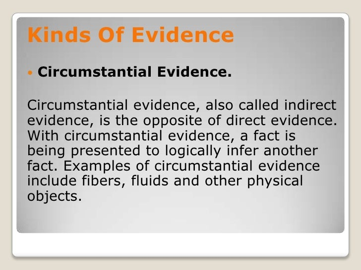 Assessment Of Evidence