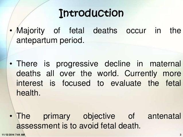 Assessment of fetal wellbeing Slide 3