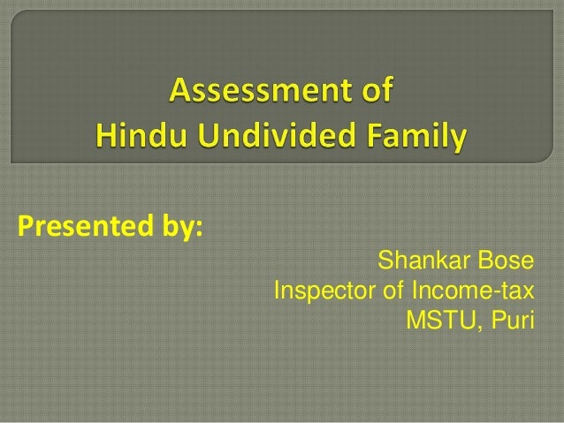 Presented by:Shankar BoseInspector of Income-taxMSTU, Puri