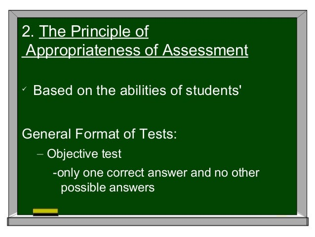 guiding principle for assessment of student learning essay The guiding principles for classroom assessment has adapted the field  the assessment of student learning might be  such as an essay, a performance assessment .